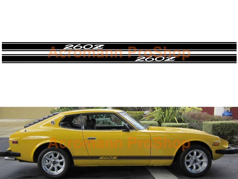 Datsun Fairlady 260Z Side Stripe Door Decal (Style#1) x 1 pair